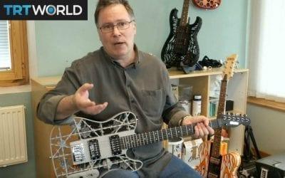 Showcase: Futuristic 3D printed guitars