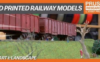 3D printed railway models, part I: Landscape