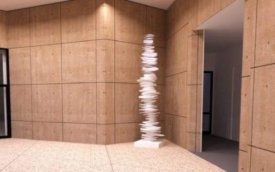 Artist Steven Naifeh 3D prints 12-ft-tall desert rose sculpture