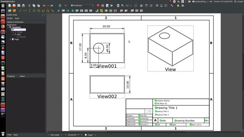 FreeCAD TechDraw Workbench Tutorial