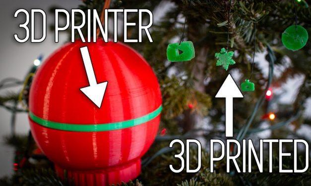 Ornamentception – A 3D printer that's a Christmas Ornament