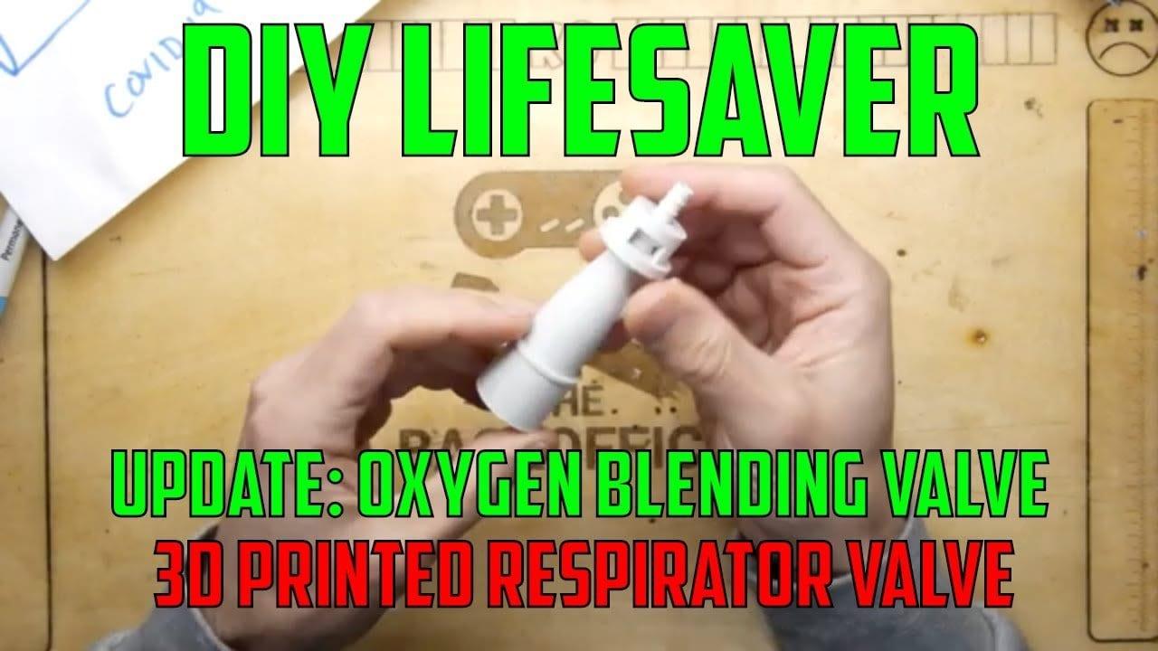 3D Printed Ventilator Valve From Recent Covid-19 Coronavirus News
