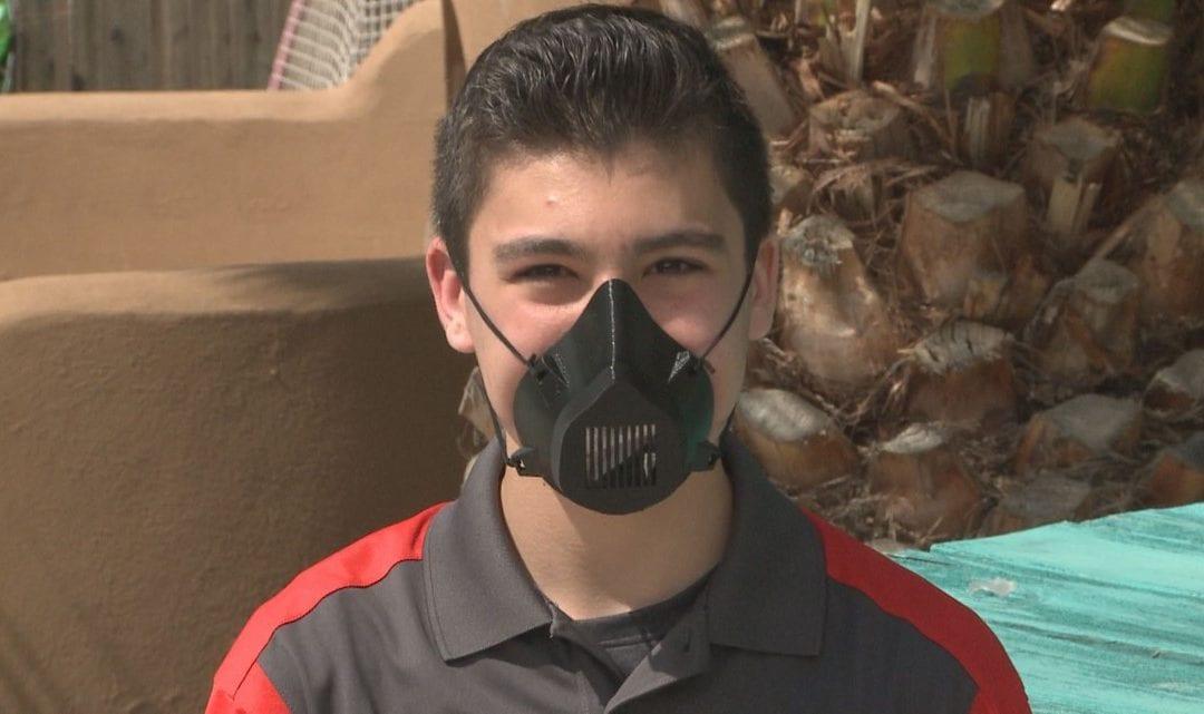 Boy makes 3D-printed masks as medical professionals face equipment shortage