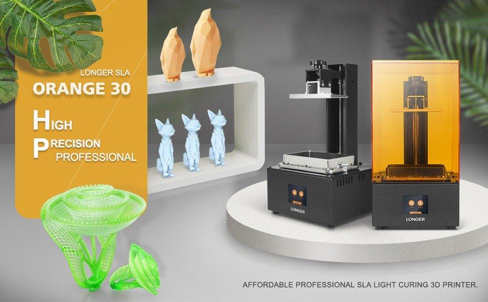 Grab Longer Orange 30 SLA 3D printer at discount price for $285 using the coupon inside!
