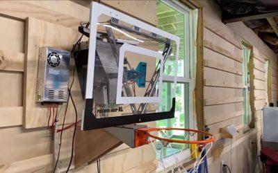 This robotic basketball hoop turns bricks into buckets