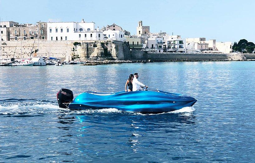world's first 3D-printed fiberglass boat debuts at genoa boat show