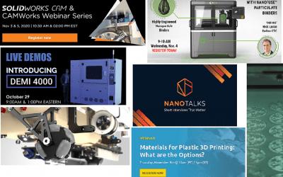 3D Printing Webinar and Virtual Event Roundup, November 1, 2020